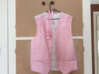 Pink waistcoat and bow tie