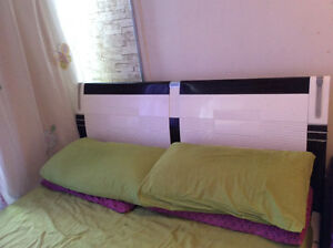 Double bed white colour