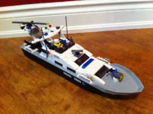 Lego Fire Boat and Police Boat