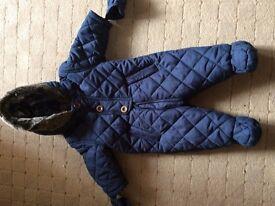 Navy snowsuit