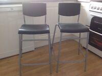 2 IKEA breakfast bar stools