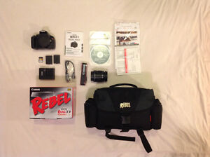 Canon EOS Rebel T3 DSLR with Accessories and Lens
