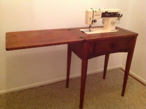 Vintage heavy duty sewing machine with table