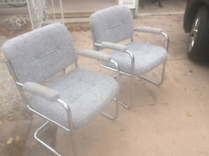 Two comfy armchairs $25.00 for the pair.