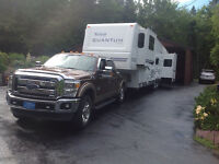 EXCELLENT CONDITION FIFTH WHEEL AND 3/4 TON TRUCK