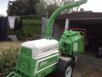 "Greenmech Eco aborist ec 15-22 26hp 6""wood chipper with izusu engine 2004"