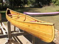 Custom Cedar strip ribless canoe, Peterborough Last!