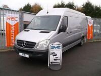 2012 62 MERCEDES SPRINTER LWB HIGH ROOF 313 CDI WITH AIR CON IN SILVER CHOICE OF