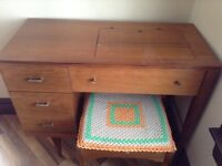 Sewing machine cabinet & seat