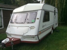 Jubilee Equerry GT 2 Berth Caravan with Kampa Awning and Winter Cover