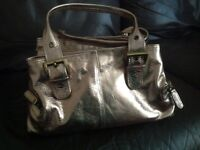 Tommy and Kate gold leather handbag