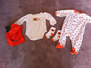 6m baby girl Halloween clothing