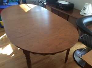 Antique table and cabinet from 1950-60s