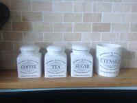 Maxwell Williams tea coffee sugar and other storage jars