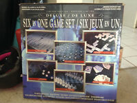 Deluxe 6 in 1 game set --- BRAND NEW