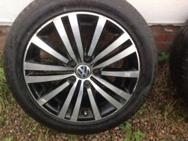 "17"" VW PASSAT MINNEAPOLIS ALLOY WHEELS ALLOYS TYRES WHEELS RIMS PCD 5X112 FITMENT"