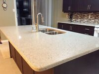 Quartz/Granite Kitchen Countertop Special - $20.00/Sq.Ft Labour
