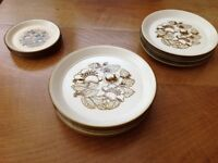 Staffordshire Kiln craft 16 plates
