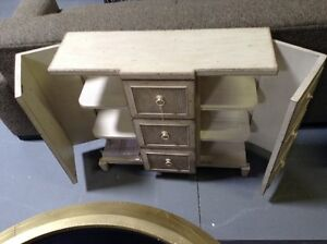 Nice hallway console table with drawers from Caracole