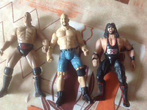 The Rock, and wrestlers Action figures West Island Greater Montréal image 1