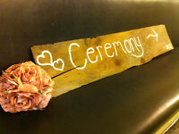 Wooden Wedding Ceremony and Reception Signs for Rent
