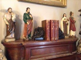 Rare antique Victorian set church statues