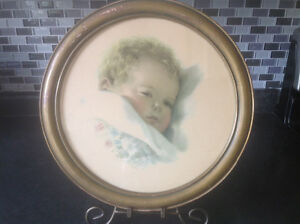 "VINTAGE BESSIE PEASE GUTMANN FRAMED PRINT ""ON DREAMLANDS BORDER"""