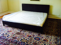 NEW Bed Frame King Size+Mattress -Synthetic Leather (NEGOTIABLE)