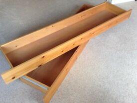 Pair of pine under bed storage drawers (kingsize)