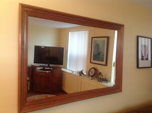 Stunning walnut finished wall mirror