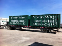 Huntsville container rentals, mobile containers from $ 80.00 mo.