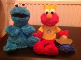 Count 'n' crunch Cookie Monster and let's imagine Elmo