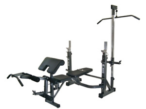 Olympic Sized Bench Press with Accessories