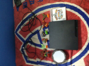PS3 250g with Skylander game and figures