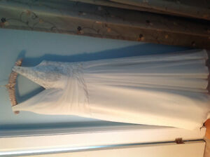 Wedding Dress: chiffon crepe with beading
