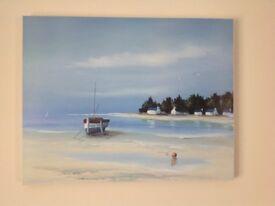 2 x seascape canvas