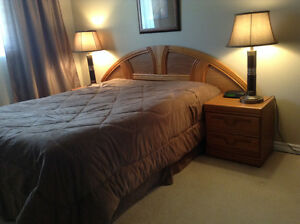 QUEEN SIZE BED SET & NEW MATTRESS BOX SPRING only for $250