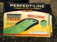 Golf Putting mat. Perfect-line double hole putting mat