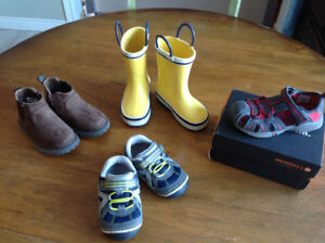 Stride Rite, Carter's, Merrell and Joe Fresh shoes, size 6-8