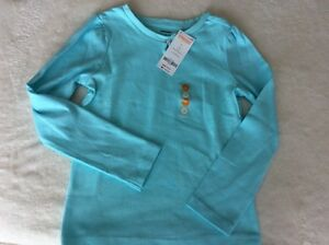 New w/ Tags- Gymboree Girl Sz 7 Blue Long Sleeve Shirt