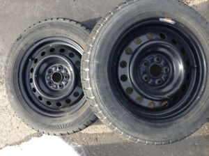 """15"""" snow tires and rims"""
