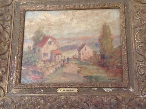 F.H. McKay painting - country scene