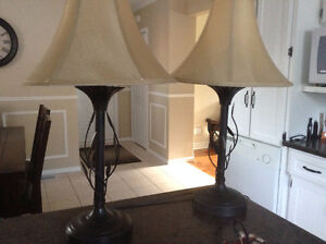 Hampton Bay end table lamps and floor lamp