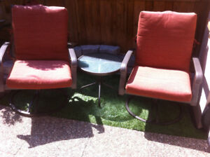 Patio Chairs [2] and side table