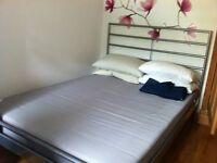 Double bed ikea Heimdal and sultan foam mattress