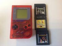 Original Nintendo GameBoy DMG-01 & 3 Games
