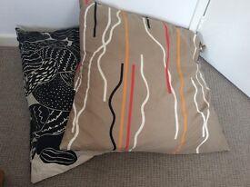 2 x Large floor cushions - geometric modern patterns