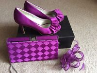 Stunning Phase Eight shoes, matching bag and fascinator