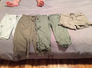 Two pairs of capris and two shorts
