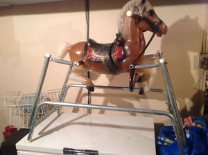 Vintage toy collectible kids riding horse antique only 45 dollar